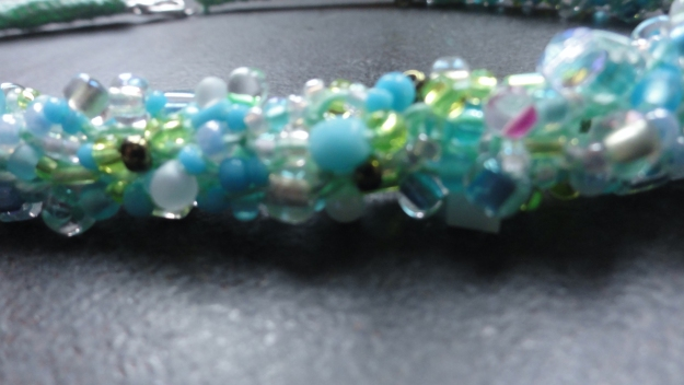 Turquoise non-classic beaded rope.