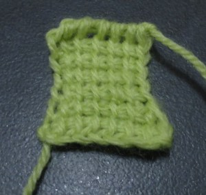 Basic Tunisian Stitch.
