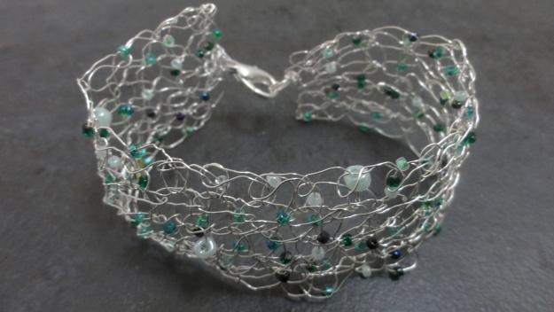 A Tunisian Wire Bracelet.