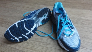 My new clean, bouncy trainers.