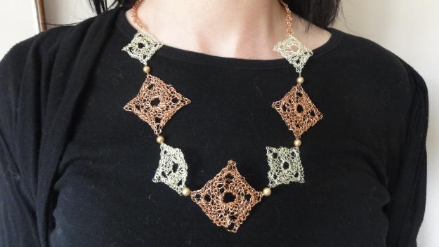 Granny Square Wire Necklace