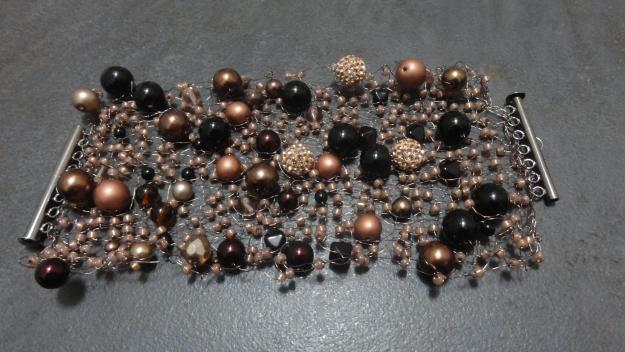 Knitted prom bracelet