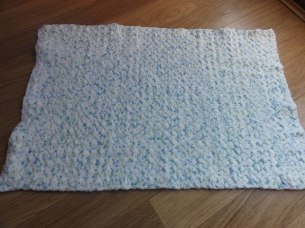 A baby blanket.