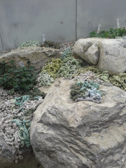 We made Lichen which was put amongst the rocks.