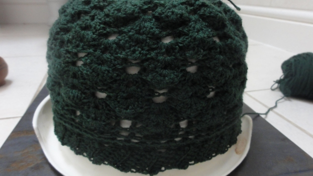 This is the wrong side of the hat. I think it is lovely in its own way - almost a reversible pattern.