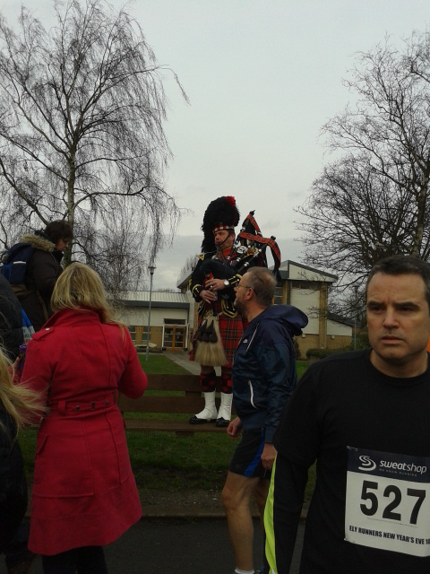 The lovely bag piper who starts us off with good cheer and welcomes up the top of a hill at the end!