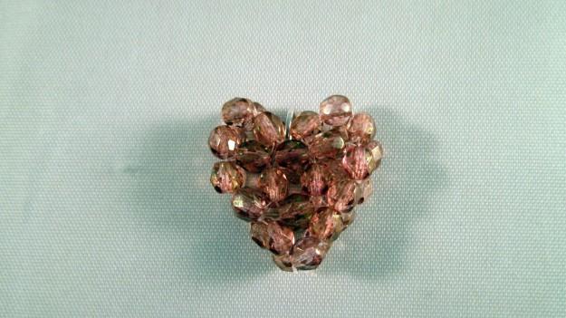 A bicone heart pendant