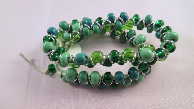 A green goddess bracelet.
