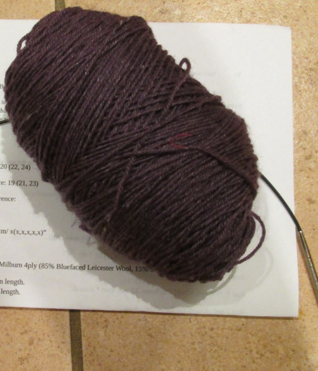 This is the yarn that I have just finished knitting with.
