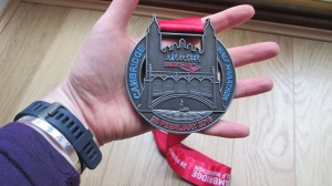 Look at the size of the medal!